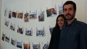 Os extensionistas Clara Lemos e Felipe Cunha no evento que lembrou um ano do rompimento da Barragem de Fundão