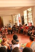 Alunos da E.M. Bento Rodrigues na Oficina de Fotografia nos dias 31/10 e 01/11.